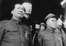 毛泽东、刘伯承在开国大典上