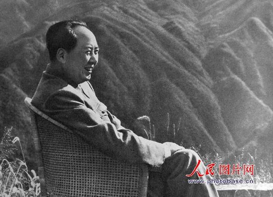1961年,毛泽东同志在庐山。