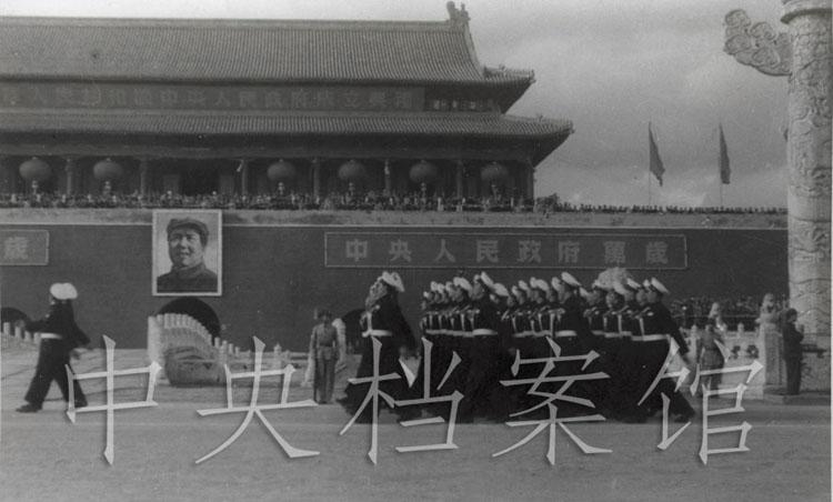 1949年10月1日,参加开国大典的人民海军