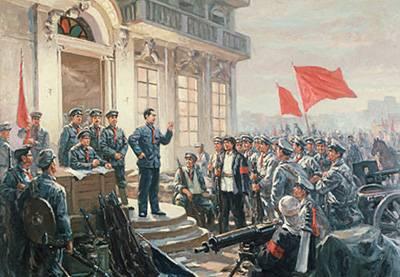 这是反映八一南昌起义的油画。