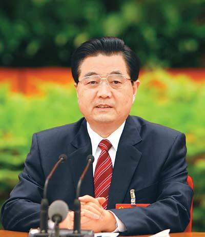 中国共产党第十七届中央委员会第三次全体会议,于10月9日至12日在北京举行。全会由中央政治局主持。中央委员会总书记胡锦涛作重要讲话。  新华社记者 兰红光摄