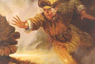 舍身堵枪眼的志愿军战士――黄继光